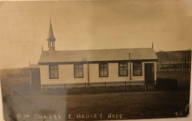 East Hedleyhope Primitive Methodist Chapel, Co Durham | postcard belonging to Steven Wild