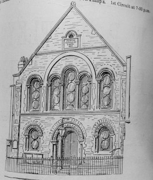 Ebenezer chapel, Midland Road, in a drawing for the 1901 Primitive Methodist Conference | Primitive Methodist Conference Handbook 1901