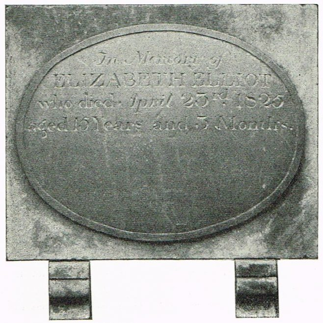 Elizabeth Elliot (1810-25) of Oswestry