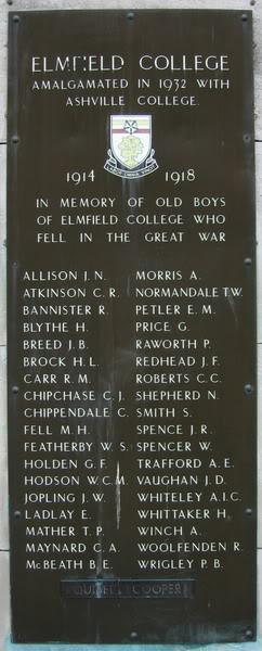 Elmfield College War Memorial | Stanley Merridew
