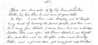 First page of his handwritten memoir