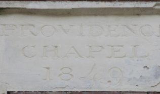 Datestone from Providence chapel, Enderby | Christopher Hill 2016