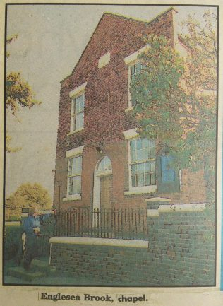 undated newspaper picture of Englesea Brook Primitive Methodist chapel | Englesea Brook Museum picture and postcard collection
