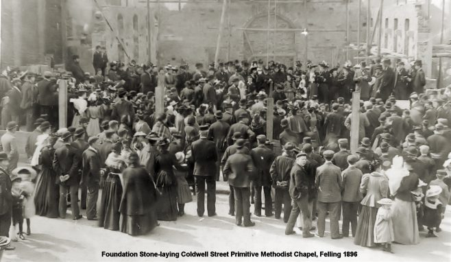 Foundation stone-laying ceremony at Coldwell Street PM, Felling | Bede Circuit Archive Collections
