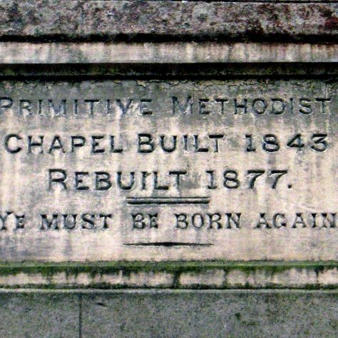 FFrwd Primitive Methodist chapel datestone | David Young