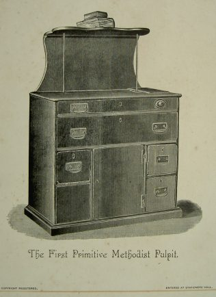 Print of the first PM pulpit