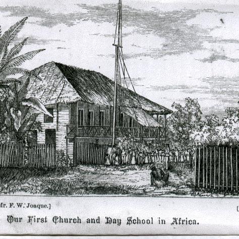 First church and Day School on Fernando Po   F. W. Joaques