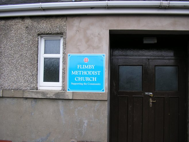 Flimby PM Chapel, notice board , 20.09.2014 | GW Oxley