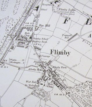 6 inxh OS map showing the position of the chapel | G W Oxley