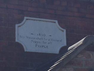 1850 date stone above front door.   Rev. David Leese