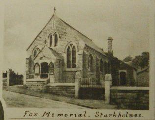 Starkholmes Fox Memorial Primitive Methodist chapel | Englesea Brook Primitive Methodist Museum picture and postcard collection