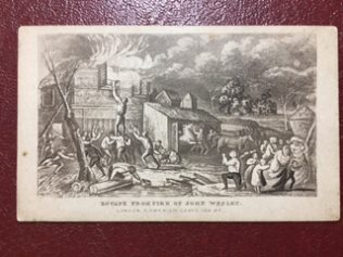 Rescue from the Rectory fire: Wesleyan CDV, | Rev David Leese