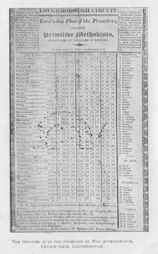 Loughborough Plan 1822-3 | Centenary Camp Meeting Souvenir Handbook