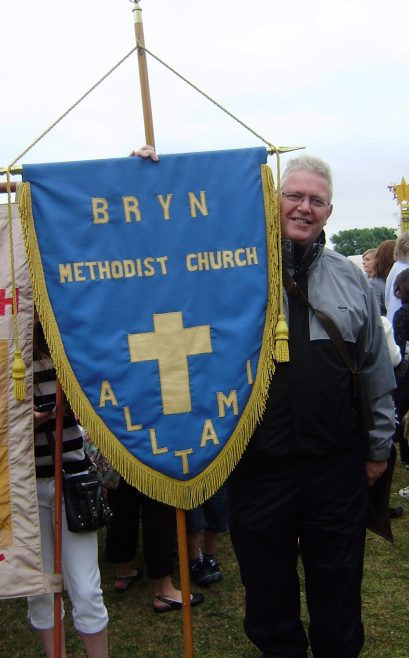 Jubilee banner, carried by Mr. Ged Fitzpatrick