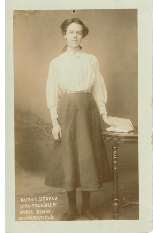 Ruth E Storer, Girl Preacher, Upper Denby, Huddersfield | Englesea Brook Museum 30m/01