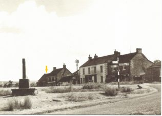 Sometime in the 1950s Goathland PM Chapel is the single storey building with the arrow above the roof. Photo by kind permission of the shopkeeper in the newsagents just up from the chapel