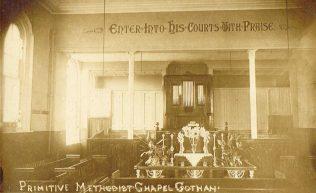 Gotham Primitive Methodist Church, Nottinghamshire   postcard belonging to Steven Wild