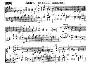 Grace; alternative tune for Hark! The gospel news is sounding | Primitive Methodist Hymnal with supplement 1889