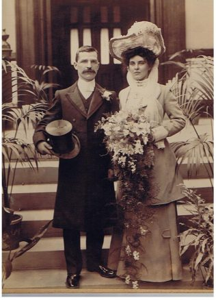 William Goodreid and Mary Ann Harrison on their wedding day | Family photograph