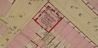 Ground plan of Carlisle, Cecil Street PM Chapel from OS 1 to 500 CumberlandXXIII 8 1 circa 1860