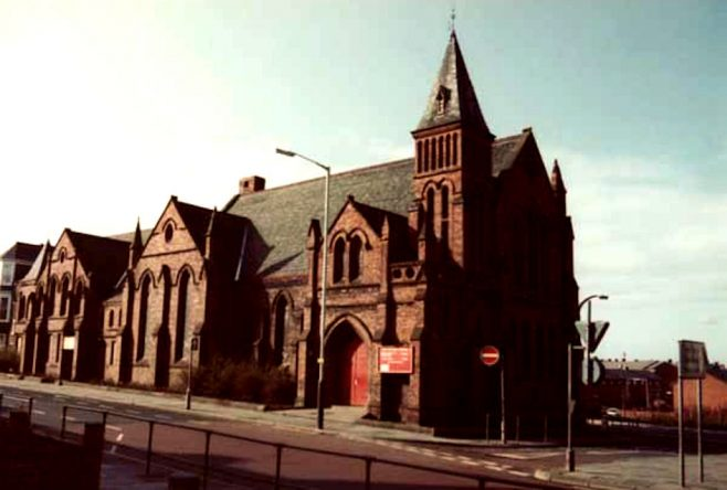Glebe PM Church, South Shields pictured in 1983 - the building was gutted by fire in 1987 and subsequently demolished | Bede Circuit Archive Collections