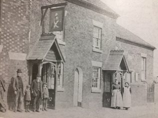 Hanging Bridge chapel, beyond Duke of York inn. | Archive photograph