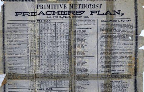 Hadnall Circuit Primitive Methodist Preachers'Plan