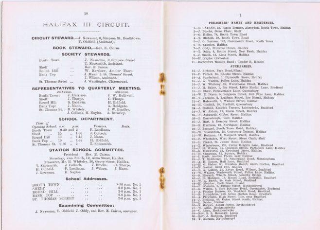 Halifax I, II & III Circuits 1906 Q2   Circuits beginning with H