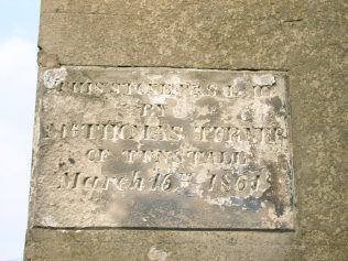 Photo No.5 Foundation stone from the 1861 chapel