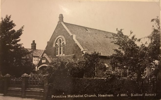 Heacham Primitive Methodist Chapel, Norfolk   postcard belonging to Steven Wild