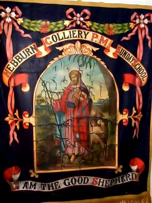 Hebburn Colliery (High Lane Row) PM Chapel Sunday School Banner (now in private hands) | Richard Jennings