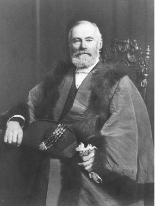 Henry Clark, pictured about 1920, dressed as an Alderman