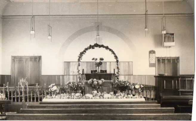 Interior, Heworth Colliery PM Chapel c1930 | Bede Circuit Archive Collections