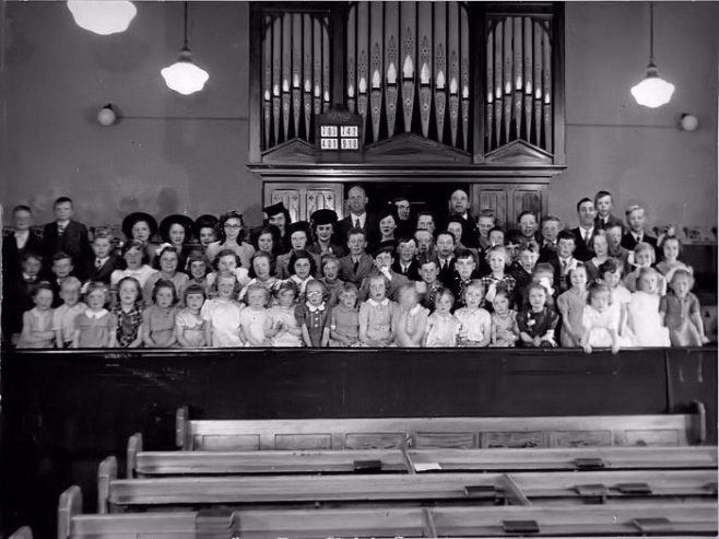 Sunday School in High Lane Row PM Chapel, Hebburn 1940 | Bede Circuit Archive Collections