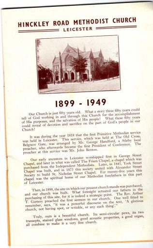 Leicester Hinckley Road Primitive Methodist Church