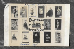 Roll of Honour Hinckley Rd Leicester PM School 1915