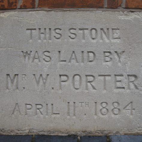 Photo of a foundation stone taken September 2017 | E & R Pearce