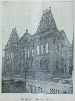 Holdforth Street Primitive Methodist Chapel, Wortley | Handbook of the Primitive Methodist Conference 1898; Englesea Brook Museum