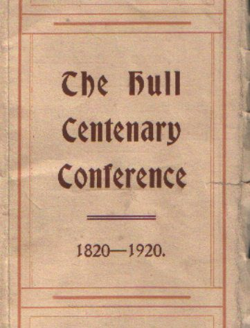 1920 Conference Programme -Rev. Henry Roe was a guest speaker | Engelsea Brook Museum