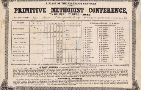 Hull Primitive Methodist Conference 1845