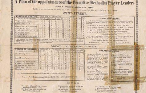 Hull First Circuit Prayer Leaders' Plan 1868 Q1