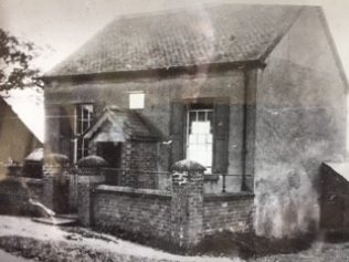 Archive photograph of Hulland Bourne chapel in original form with central doorway, before twentieth century alterations and extension | David Leese