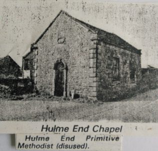 Hulme End Primitive Methodist chapel | Englesea Brook Museum picture and postcard collection