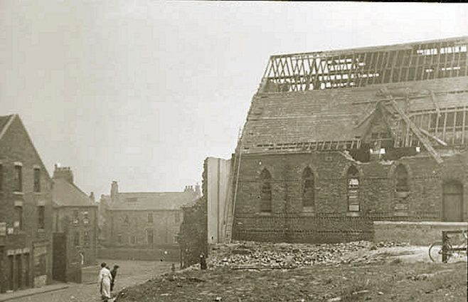 Heugh Street PM Chapel, South Shields during demolition, 1937 | Newcastle upon Tyne District Archives