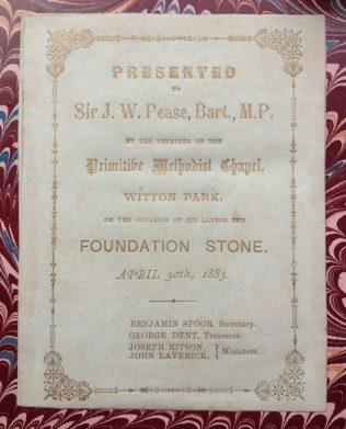 Witton Park Primitive Methodist Chapel | Englesea Brook Museum, PMQR, 1882