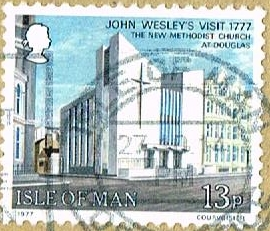 A stamp was produced showing the new church in 1977