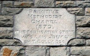 The inscription on the Chapel at North Common, Warmley | Sue Westcott 2012