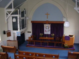 The interior of the chapel today | Croxley Green Methodist Church website