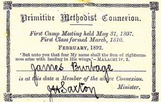Burbage, James (Jim) (1866-1927) | Cosby Methodist Church archive, with thanks to Dorothy Cooper, Church Steward