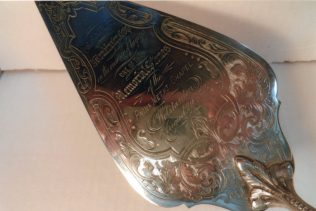 Ornate brass trowel | JR Ayling